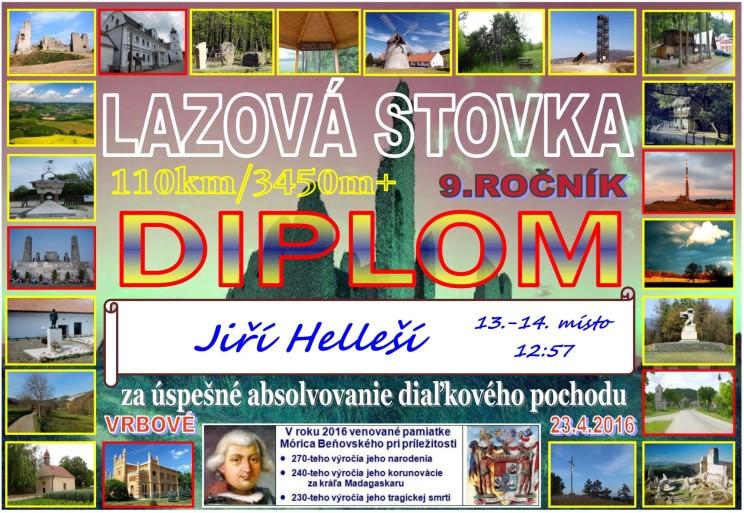 Lazova 100 2016 - diplom